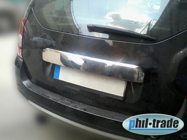 Stainless Steel Boot bar over Number Plate for Dacia Duster I Phase I 2010-2013