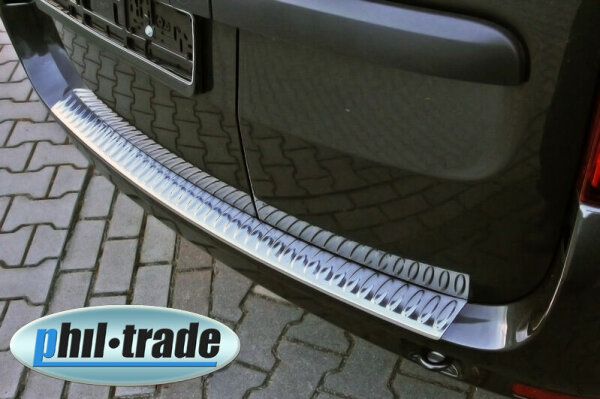 Stainless Steel Bumper for Dacia Logan MCV I Year 2006-2013 with Splay