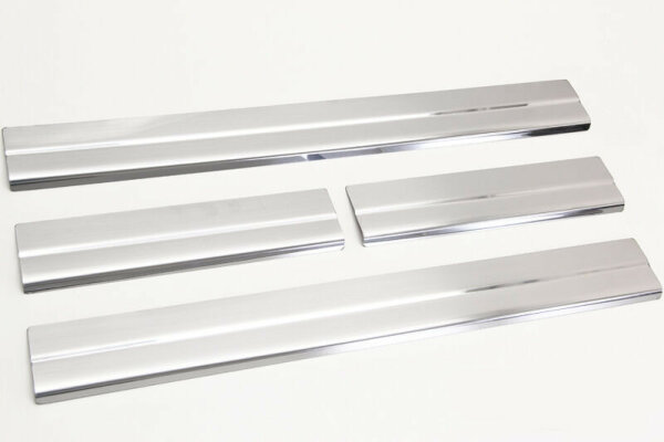 Door Sill For Ford Focus III C - Max II 10-18 Stainless Steel Matte Brushed