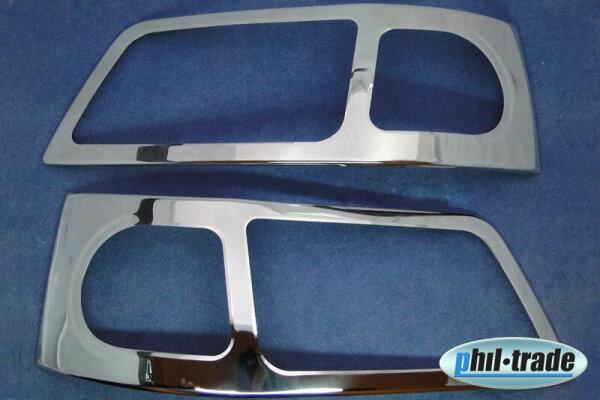 For VW T5 Chrome Frame Edging Cover Headlight Stainless Steel 2003-2009