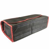 große Kofferraum Tasche Werkzeugtasche ROT SCHWARZ mit Klett 48 x 15,5 x 25,5cm