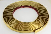 Gold Chrome Trim Strip 12mm x 15m Adhesive Universal Car...