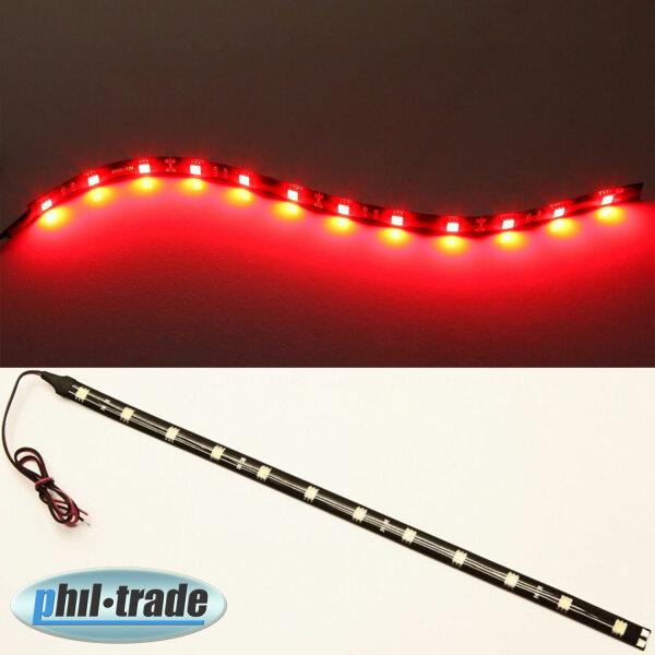 LED Strip bar Strip Light 12V Plasma Red 30cm 12 x 5050 SMD Adhesive