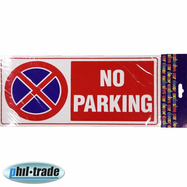 No Parking (parken verboten) Schriftzug Zeichen Aufkleber Oracal Folie 34x16 cm