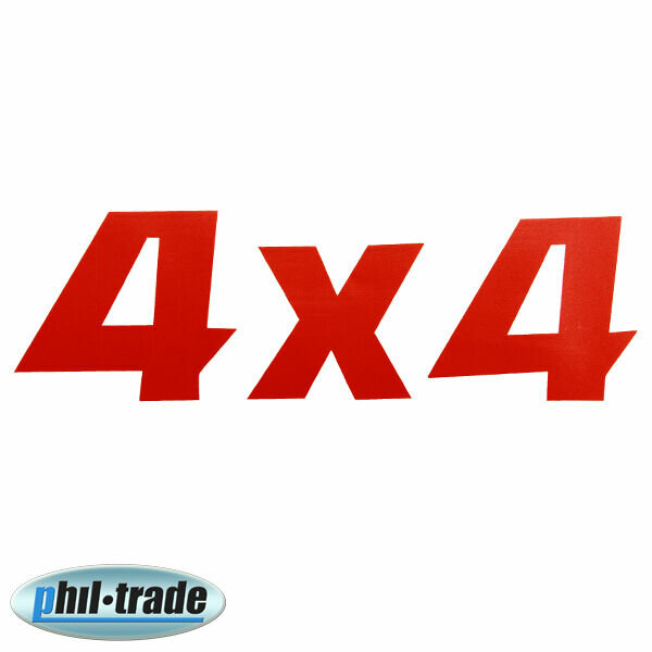 Red Metallic 4x4 4-wheel off Road Sticker Emblem Logo Lettering 4WD