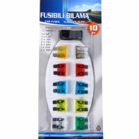 Set 10 Piece Car Vehicle Ato Push in Flat Fuses Micro Fuse 5-30A with Pliers